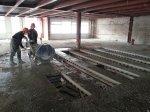 Резка и демонтаж металоконструкций и перекрытий второго этажа.